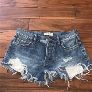 free people jean shorts, Size 25!!!!